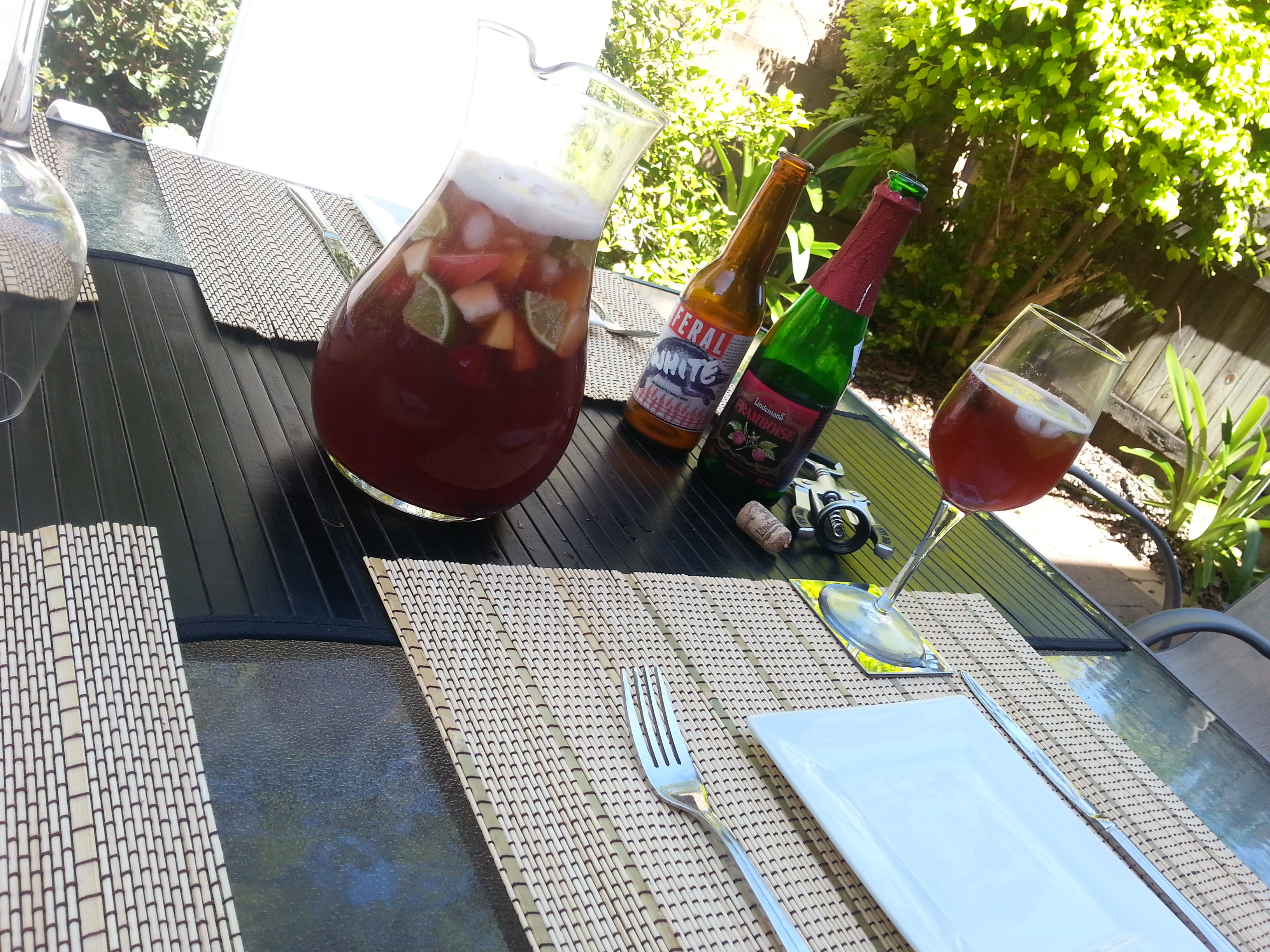 Framboise Lambic Sangria | The Beer Drinker's Table