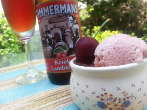 plum and cherry lambic sorbet
