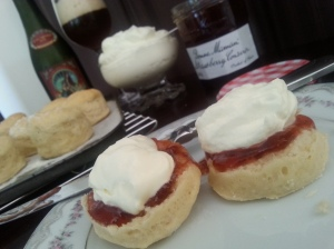 Farmhouse Red with Scones