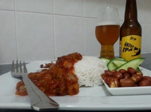 ANZUS IPA and Nasi Lemak